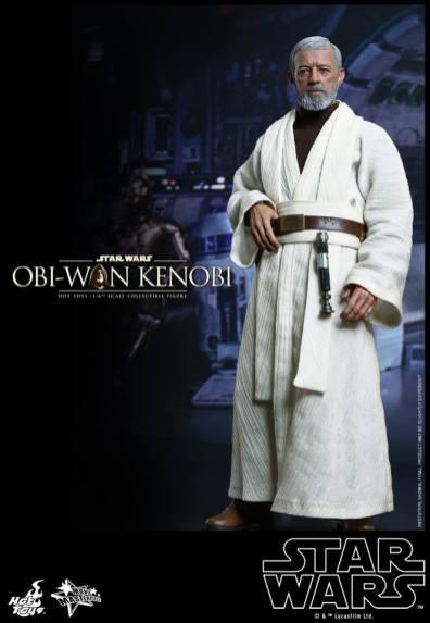 Hot Toys Obi Wan Kenobi - holding tunic