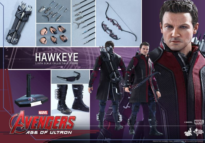 Avengers Age of Ultron Hawkeye figure - collage shot