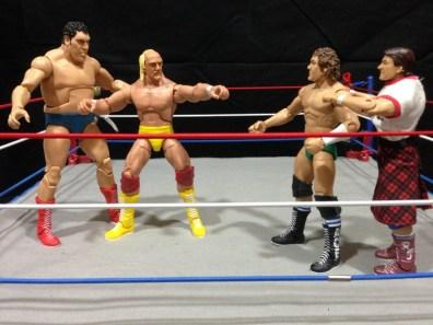 Hulk Hogan Defining Moments figure - Andre and Hogan vs Orton and Piper