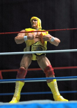 Hulk Hogan Defining Moments figure - Hogan ripping off T-shirt
