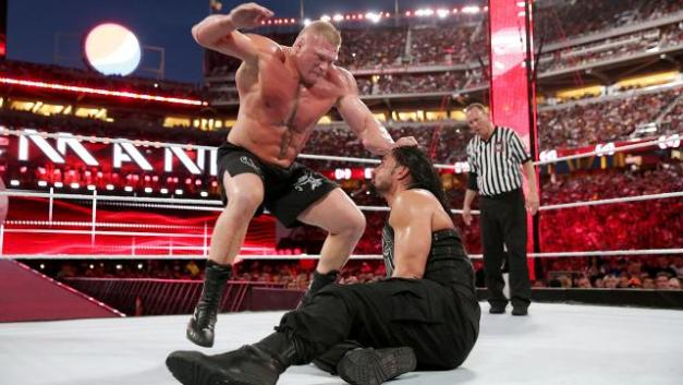 Wrestlemania 31 -Brock beats down Reigns