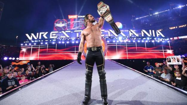 Wrestlemania 31 - Rollins with the belt