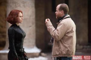 Avengers Age of Ultron - Scarlett Johansson and Joss Whedon