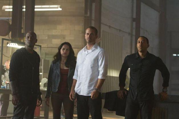 furious-7 - Tyrese, Michelle Rodriguez, Paul Walker and Ludacris