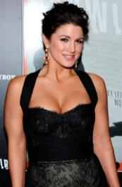 Gina Carano - black dress