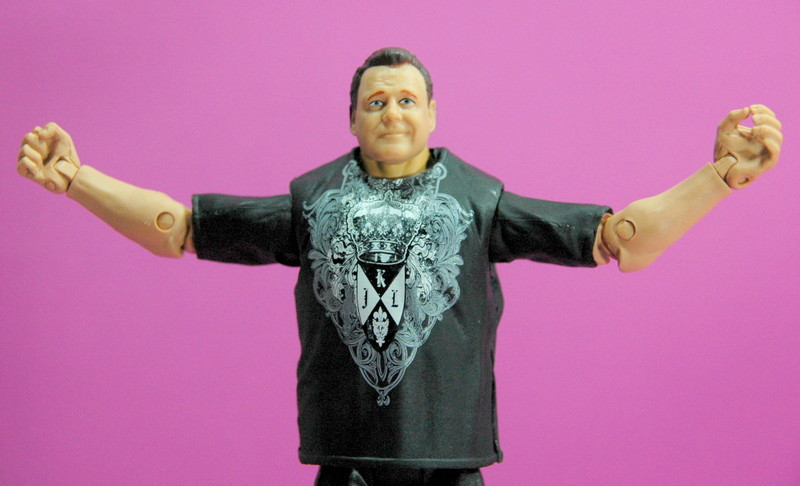 Jerry Lawler figure Basic 49 - Mattel - arms out