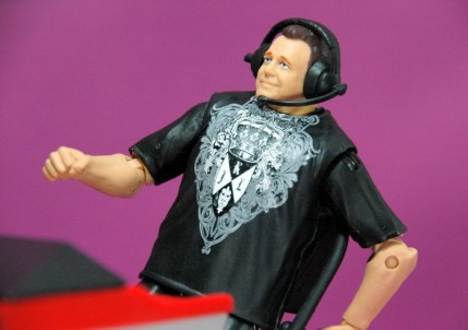 Jerry Lawler figure Basic 49 - Mattel - at commentating table