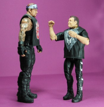 Jerry Lawler figure Basic 49 - Mattel - facing Undertaker