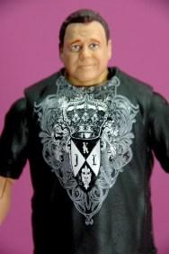 Jerry Lawler figure Basic 49 - Mattel - shirt close up