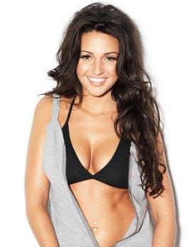 Michelle Keegan - black bra
