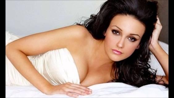 Michelle Keegan - white top cleavage