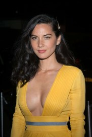 Olivia Munn in low cut yellow