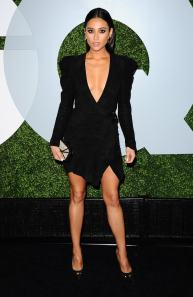 Shay Mitchell - legs black dress