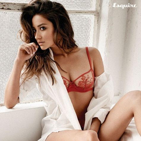 Shay Mitchell - red lingerie