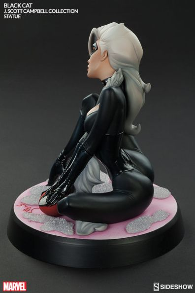 Sideshow - Black Cat - J Scott Campbell statue - rear pose