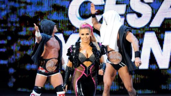 WWE Extreme Rules - Cesaro and Kidd with Natayla