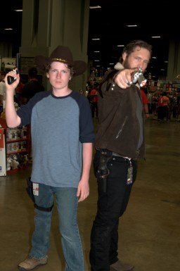 Awesome Con 2015 Day 1 cosplay - Carl and Rick Grimes