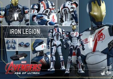 Hot Toys Iron Legion figure - collage