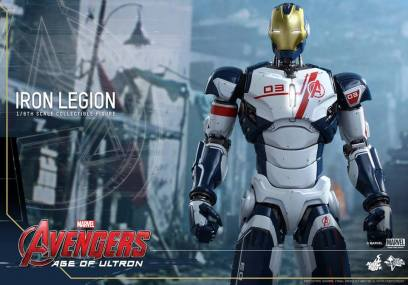 Hot Toys Iron Legion figure - on guard