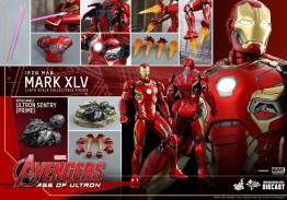 Hot Toys Iron Man Mark XLV figure - collage