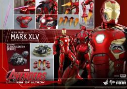 Hot Toys Iron Man Mark XLV figure - collage