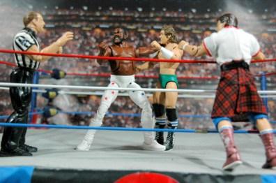 Junkyard Dog figure Mattel WWE Elite 33 - about to punch Orton