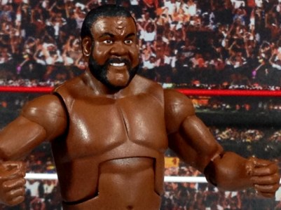 Junkyard Dog figure Mattel WWE Elite 33 - close up