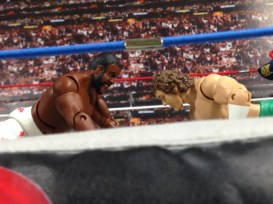 Junkyard Dog figure Mattel WWE Elite 33 - headbutting Orton