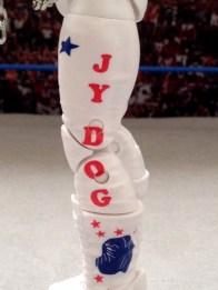 Junkyard Dog figure Mattel WWE Elite 33 - left side tight detail
