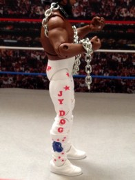Junkyard Dog figure Mattel WWE Elite 33 - right side tight detail