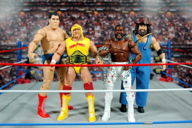 Junkyard Dog figure Mattel WWE Elite 33 - with Andre the Giant, Hulk Hogan and Hillbilly Jim