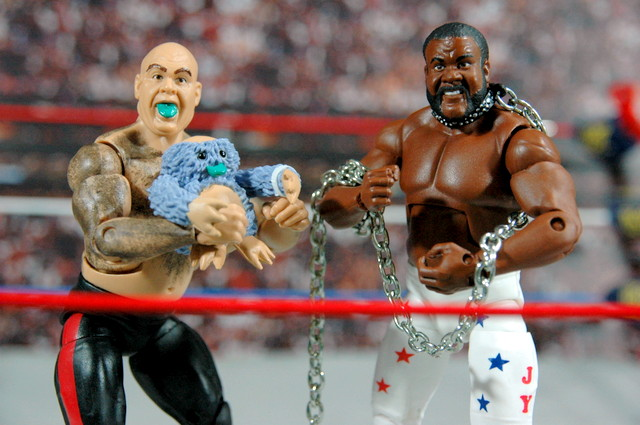 Junkyard Dog figure Mattel WWE Elite 33 - with George The Animal Steele