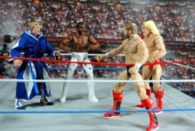 Junkyard Dog figure Mattel WWE Elite 33 - with Paul Orndorff vs Arn Anderson and Ric Flair