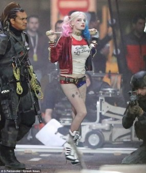 Margot Robbie on Suicide Squad set