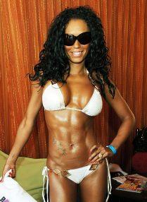 Mel B - white bikini abs