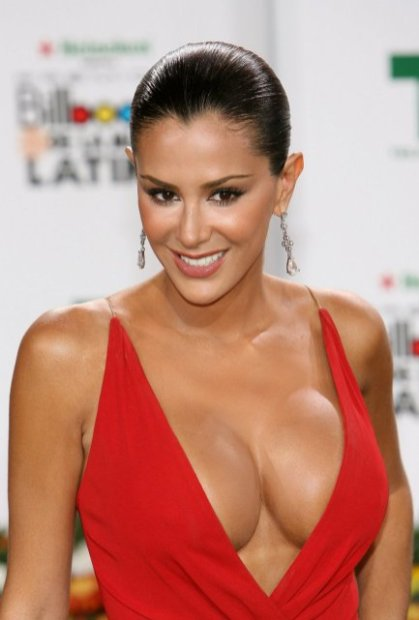 Ninel Conde - red dress