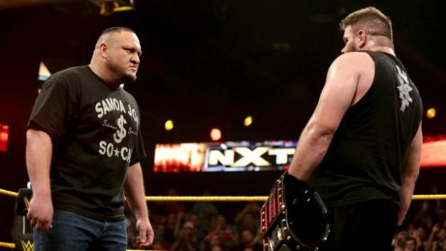 NXT Takeover Unstoppable - Samoa Joe stars down Kevin Owens