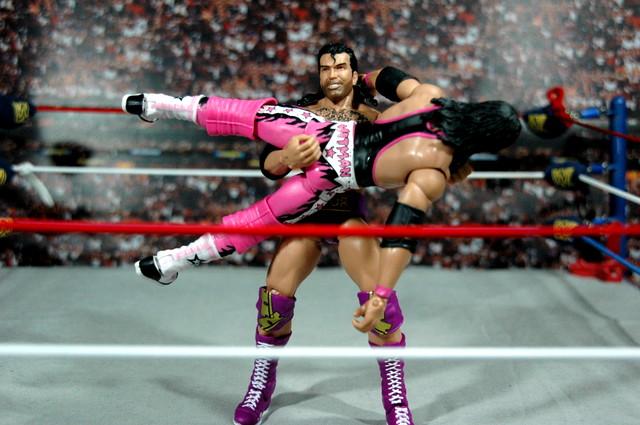 Razor Ramon Defining Moments - overhead suplex on Bret Hart