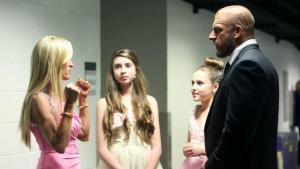 The Ultimate Warrior's family with Triple H 2015 WWE Hall of Fame