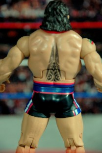 WWE Elite 34 Rusev review pics - back tattoo