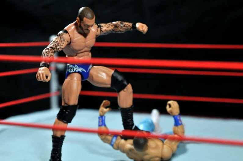 Randy Orton Mattel WWE Elite 35 -Orton with Garvin stomp