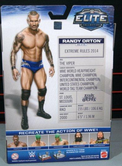 Randy Orton Mattel WWE Elite 35 -rear package