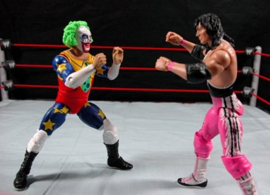 Doink the Clown WWE Mattel figure review - facing off with Bret Hart