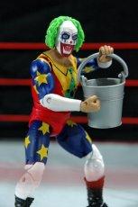 Doink the Clown WWE Mattel figure review - holding bucket