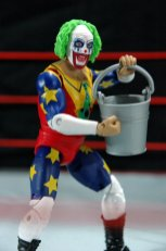 Doink the Clown WWE Mattel figure review - holding bucket