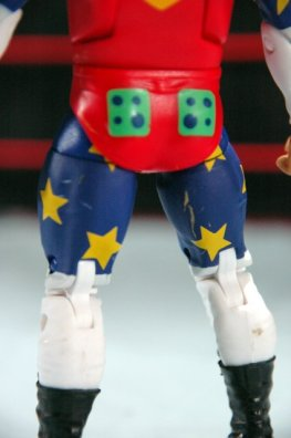 Doink the Clown WWE Mattel figure review - lower detail