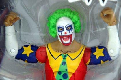 Doink the Clown WWE Mattel figure review - package closeup