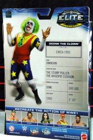 Doink the Clown WWE Mattel figure review - rear package
