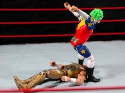 Doink the Clown WWE Mattel figure review - whoopee cushion to Savage