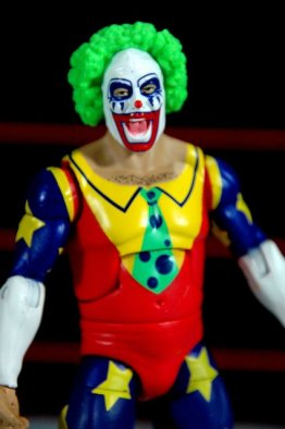 Doink the Clown WWE Mattel figure review - wide front